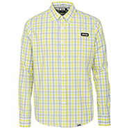 Camicia Jeep ® Cotton Check Aqua Blue/Pale Yellow original
