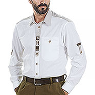 Camicia Alpen Edelweiss White and Sand