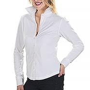 Camicia Lady Elasticizzata Fit Stretch Top White