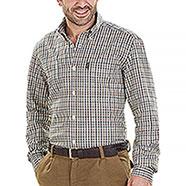 Camicia flanella uomo Beretta Cotton Button Down Beige Check