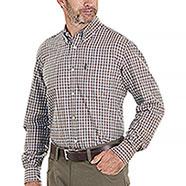 Camicia flanella uomo Beretta Cotton Button Down Brown Check