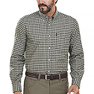 Camicia flanella uomo Beretta Cotton Button Down Green Check