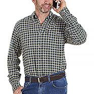 Camicia uomo Beretta Cotton Flannel White Blu Green Check
