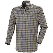 Camicia uomo Beretta Trail Button Down Brown Light Blu Check M/L