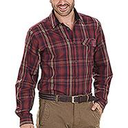 Camicia flanella uomo Seeland Gibson Russet Brown Check