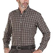 Camicia flanella uomo Beretta Wood Button Down Brown Check