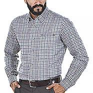 Camicia uomo Beretta Wood Plain Collar Écru Check