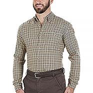 Camicia flanella uomo Beretta Wood Flannel Beige Orange Check