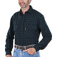 Camicia uomo Kalibro Winter Wool Check Blu Light Green