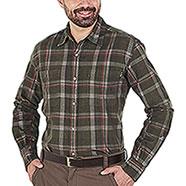 Camicia uomo Beretta Manchester Corduroy Green Orange Check