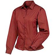 Camicia Rayure brick red Lady Le Chameau
