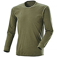 Green long-sleeved T-shirt