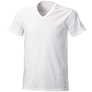 T-Shirt White Scollo V
