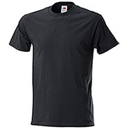 T-Shirt Black Fruit of the Loom