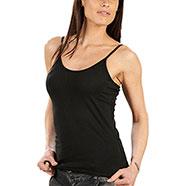 Beauty Top Slim Black Orginal Hanes