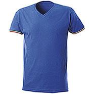 "T-Shirt uomo Nation Collo a ""V"" Royal"