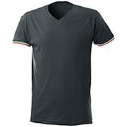 T-Shirt collo a V World Cup Black