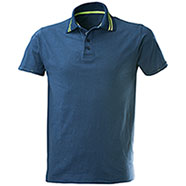 Polo Tenerife Blu Denim Yellow Fluo