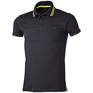 Polo Tenerife Black Yellow Fluo