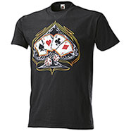 T-Shirt Fruit of the Loom Poker Aces Black
