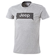 T-Shirt Jeep Grille Background Grey Mélange