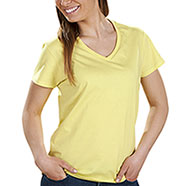 T-Shirt Donna  Collo V Cornsilk