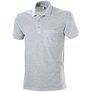 Polo con Taschino Fruit of the Lomm Grey Mélange