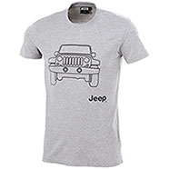 T-Shirt Jeep Vehicle Grey Mélange