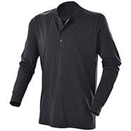 T-Shirt Manica Lunga Henley Black