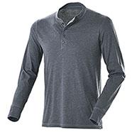 T-Shirt Manica Lunga Henley Dark Grey