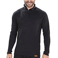 Maglietta termica Kalibro Lana Merino Zip Black M/L