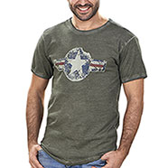 T-Shirt Kalibro Vintage Star Green