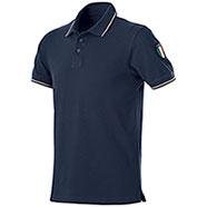 Polo piquet Flag Italy Blu
