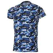 T-Shirt Camouflage Blu