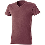 T-Shirt Mélange Effect Red Burgundy