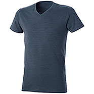 T-Shirt uomo Mélange Effect Blu Denim