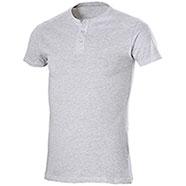 T-Shirt Serafino Grey Mélange