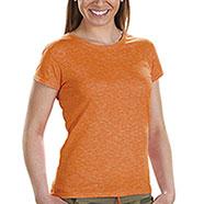 T-Shirt Donna Orange Fire Effect