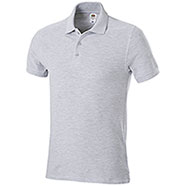 Polo Piquet Fruit of the Loom Grigio Mélange