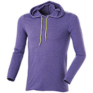 T-Shirt M/Lunga Cappuccio Heather Purple