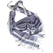 Sciarpa Shemagh White-Blu