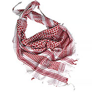 Sciarpa Shemagh White-Red