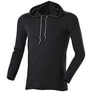 T-Shirt M/Lunga Cappuccio Black