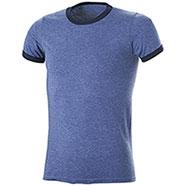 T-Shirt Ringer-T Heather Blu-Navy