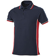 Polo Piquet Navy-Red