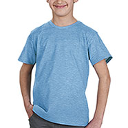 T-Shirt Bambino Light Blu Fire Effect