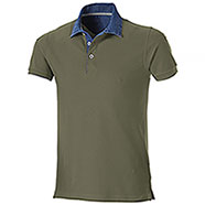 Polo piquet Grant Army Green Denim