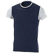 T-Shirt Lagos Bicolor Navy Grey Mélange