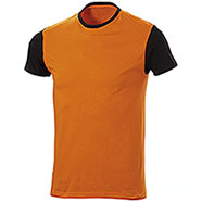 T-Shirt Lagos Bicolor Orange Black