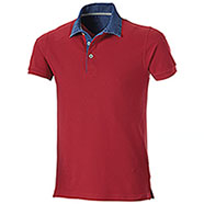 Polo piquet Grant Red Denim